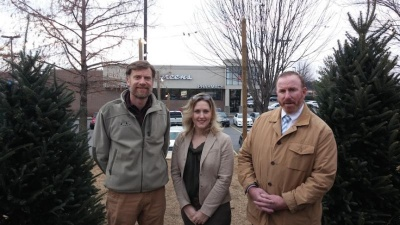 Real estate firm, Santa's Trees donate $3,000 to school