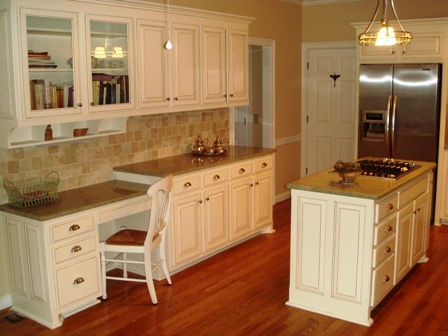 Before And After: The Tired Oak Cabinets Have Been Repainted And Glazed;  New Matching Stainless Appliances And Granite Countertops Gleam And The  Refinished ...