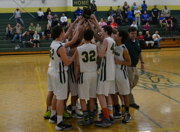 BMS JV basketball wins county title