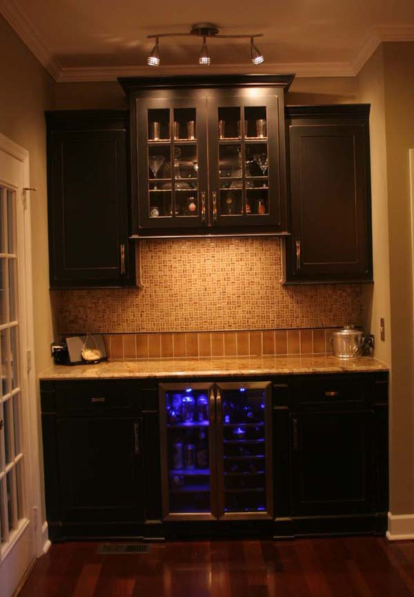 Kitchen Remodel Success Story the final product Brentwood Home – Kitchen Beverage Center