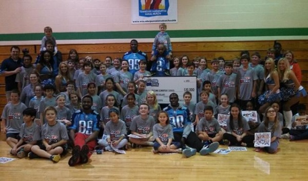 NFL Play 60 program brings Titans to Lipscomb for a workout