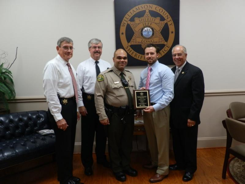 WCSO deputy honored with award