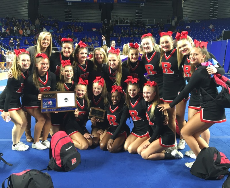 RHS cheer squad claims third-straight state title