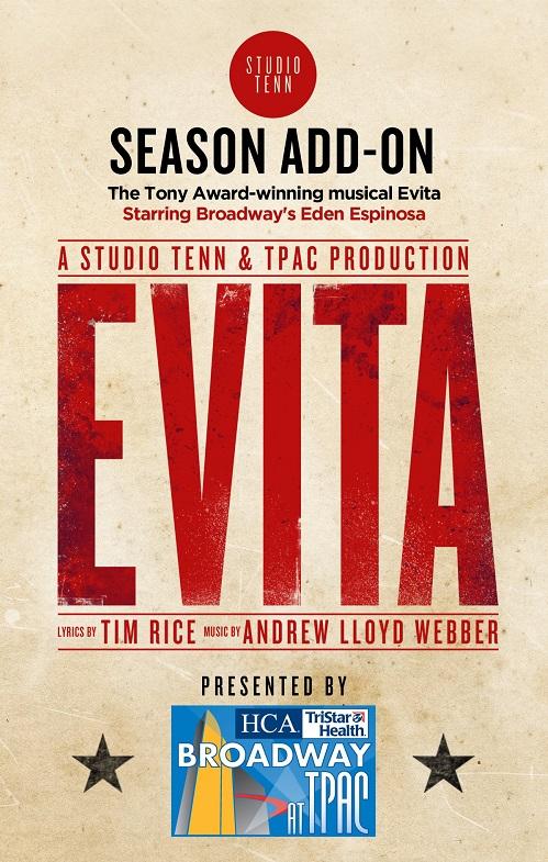 "TPAC's Broadway season opens with Studio Tenn's ""EVITA"""