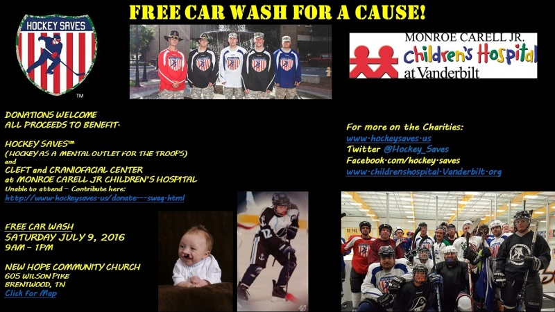 Car wash next weekend to benefit troops and children's hospital
