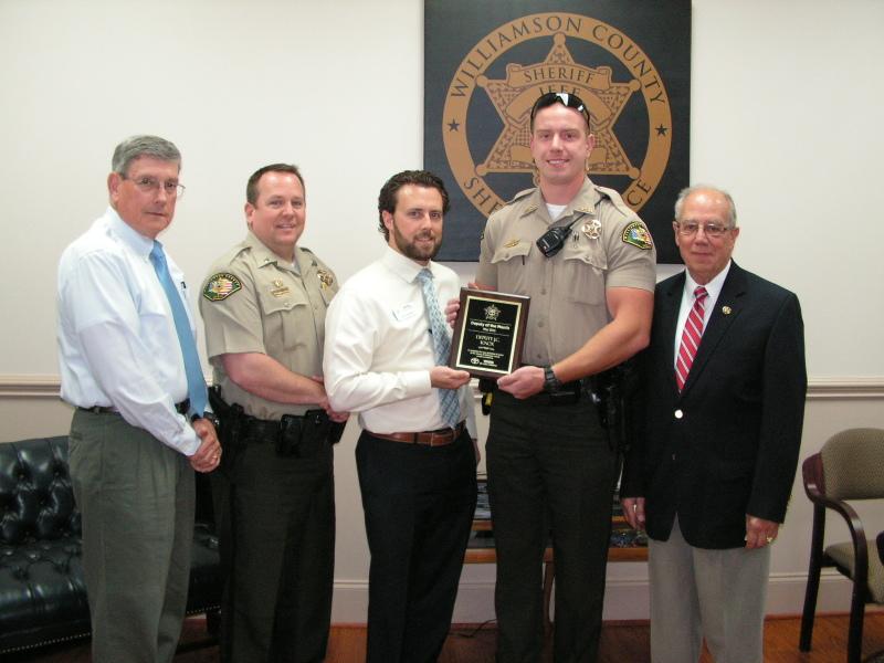 Sheriff Deputy J.C. Knox honored after saving woman on Natchez Trace Bridge
