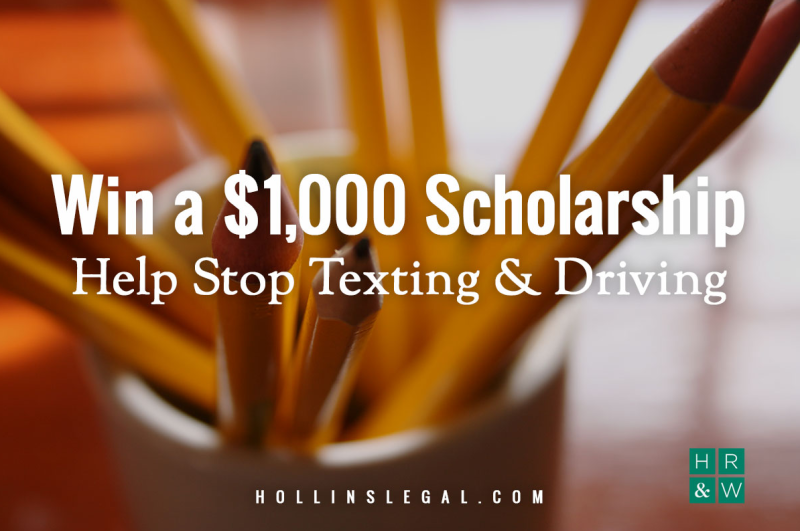 'Stop Texting & Driving' essay contest awards $1,000 in scholarships