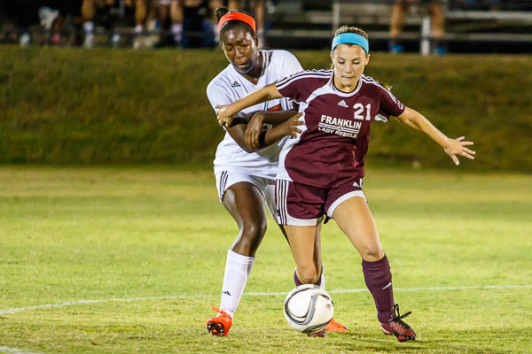 GIRLS SOCCER: Slessman's late goal helps Franklin tie Ravenwood