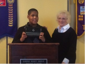 FSSD student receives Braille computer from Lions Club