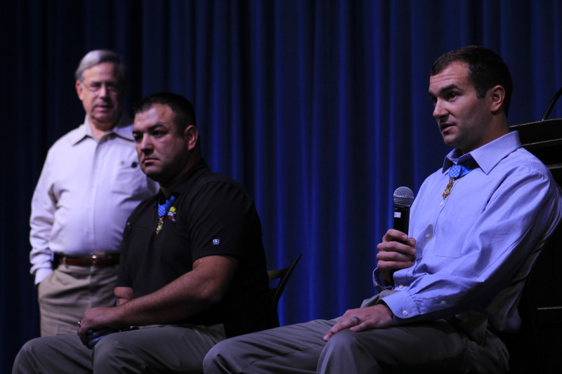 Medal of Honor recipients share military stories with BHS students