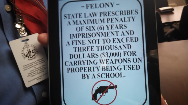 'Guns in parks' signs arrive for school officials to post