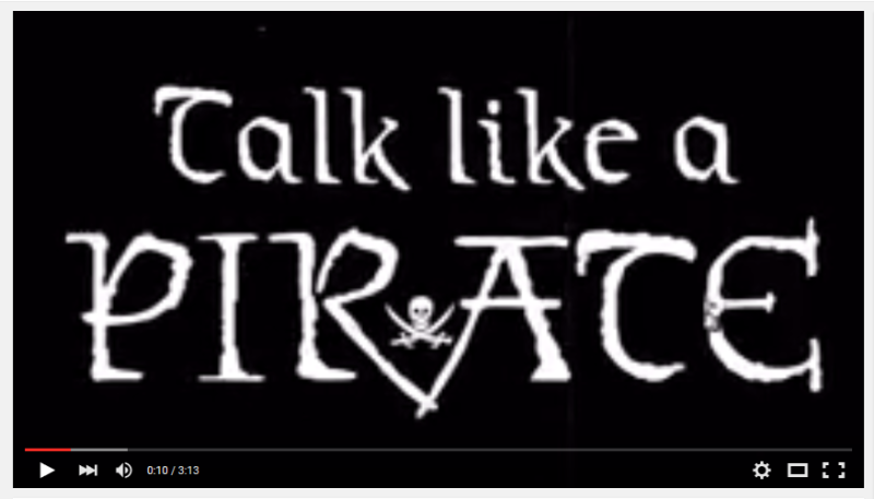 VIRAL VIDEO: Do you feel better when you 'Talk Like A Pirate?'