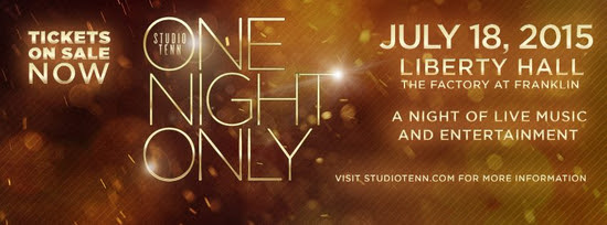 'One Night Only' gala to be held Saturday at The Factory | Studio Tenn, Franklin, Franklin Home Page